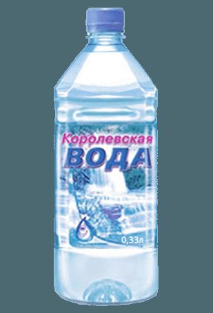 Королевская вода 0,33 л. с газом (24 шт.)