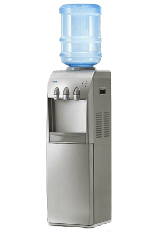 кулер для воды, напольный кулер для воды, кулер в офис, серебряный кулер