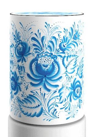 Декоративнй чехол для бутыли, ethno12-01 Gzhel1