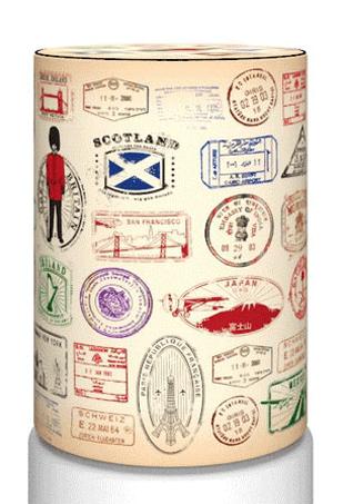 Декоративный чехол на бутыль 19л, natutre12-10 Travel Stamps