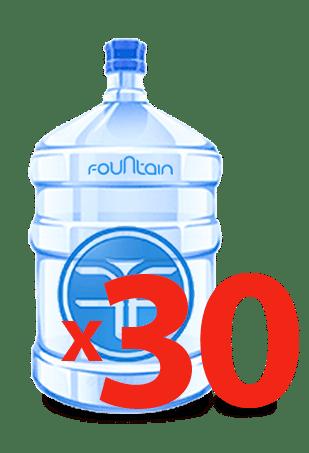 30 бутылей питьевой вода, Фоунтейн, вода дёшево