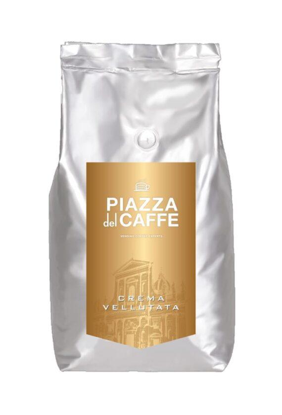 Кофе в зернах Piazza del Caffe Crema Vellutata, 1кг.