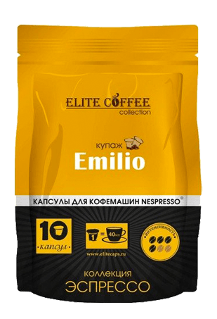 Кофе в капсулах Elite Coffee Collection Emilio, 10*10