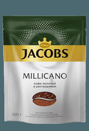 Jacobs Monarch Millicano, растворимый кофе с молотым, 150 г