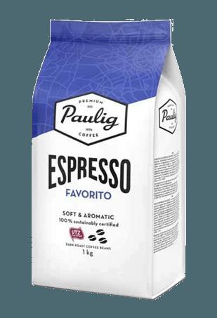 Paulig Espresso Favorito, кофе в зёрнах, 1 кг