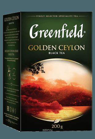 Чай Greenfield Голден Цейлон черный, 10*200