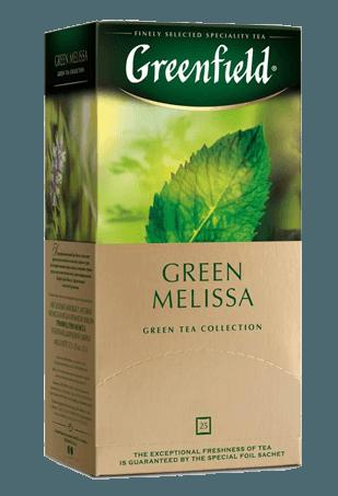 Чай Greenfield Green Melissa зеленый, 1,5*25