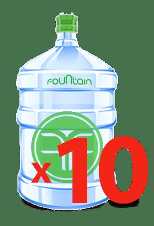 10 бутылей Королевская вода т.з. «Фоунтейн» 19 литров