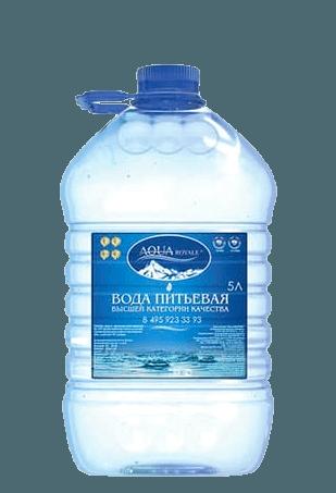 Питьевая вода  «AquaRoyale» 5 л.
