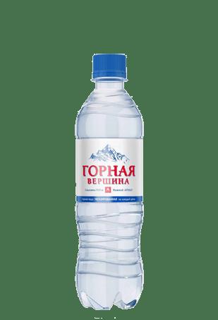 Вода Горная вершина газированная, 0,5л, 12шт