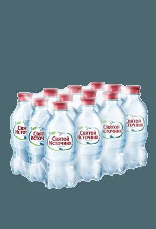 Вода Святой Источник газированная 0,33л, 12шт