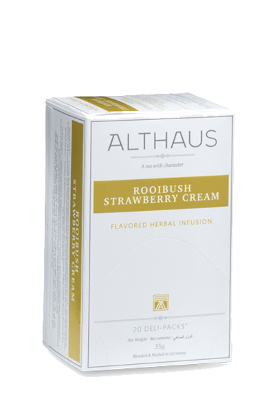 Чай Althaus Rooibush Strawberry Cream Deli Pack, 20*1.75