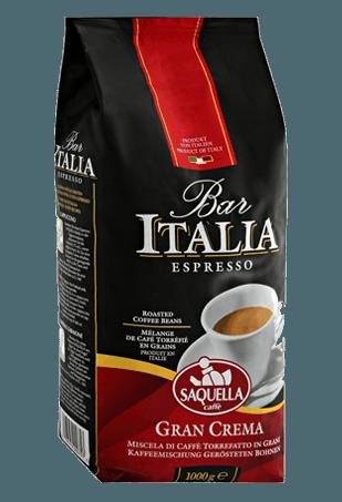 Кофе в зёрнах Saquella Bar Italia Gran Crema, 1кг