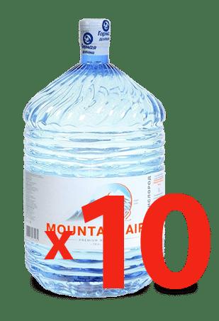 10 бутылей Вода Mountain Air 19л одноразовая