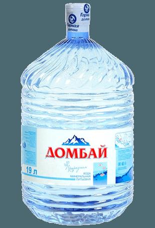Вода «Домбай минерал» 19л, одноразовая тара