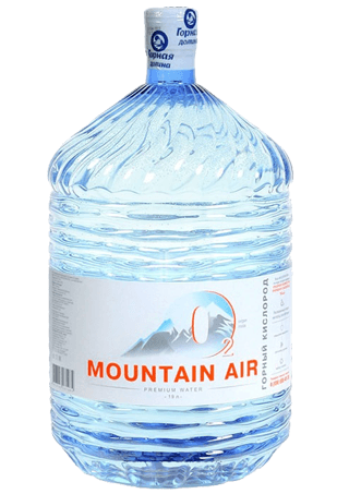 MOUNTAIN AIR Горная питьевая кислородная вода 19л в однораз. таре