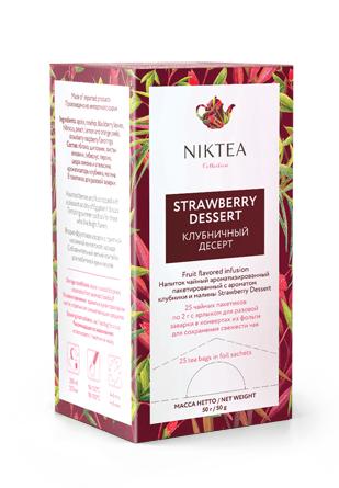 Niktea Strawberry Dessert Клубничный Десерт, 25*2