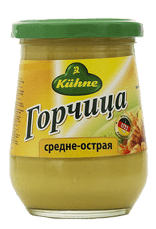 Горчица средне-острая, KUHNE Mustard medium, 250 мл