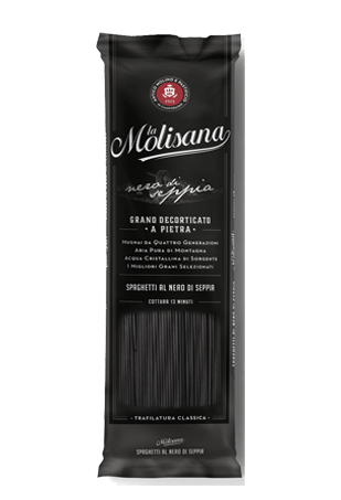 Макаронные изделия Спагетти с чернилами каракатицы, La Molisana SPAGHETTI AL NERO, 500 г