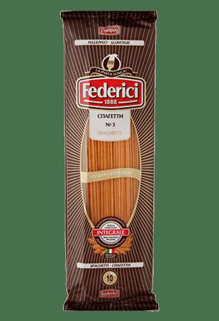 Макаронные изделия цельнозерновые Спагетти, Federici Spaghetti Integrali, 400 г