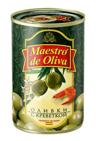 Оливки Маэстро дэ Олива с креветками, 300 г