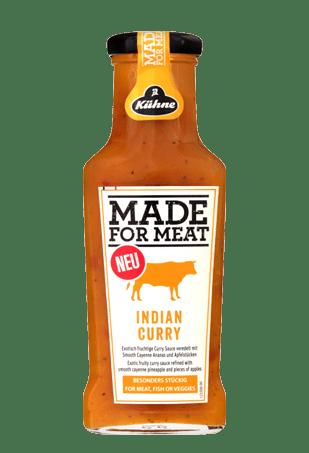"Соус с индийским карри и экзотическими фруктами, KUHNE ""Made for Meat"" Indian Curry, 235 мл"
