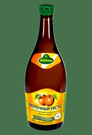Уксус 5% яблочный, KUHNE Apple vinegar, 750мл
