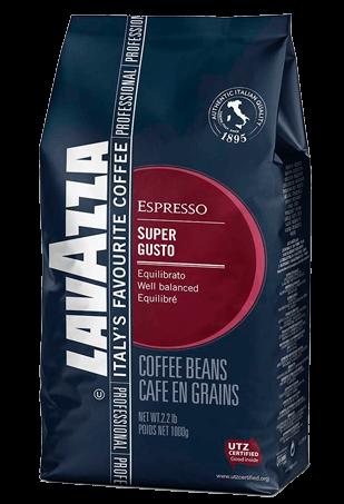 Lavazza Super Gusto UTZ, кофе в зернах, 1 кг