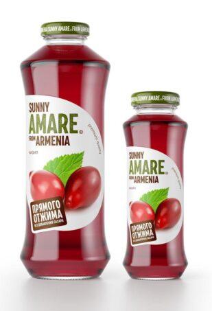 Кизиловый сок прямого отжима с добавлением яблочного сока, 250 мл