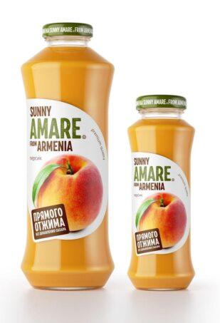 Персиковый сок прямого отжима с добавлением яблочного сока, 250 мл