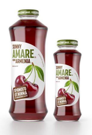 Вишневый сок прямого отжима с добавлением яблочного сока, 250 мл