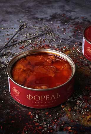 Форель радужная в томатном соусе, Гурмения