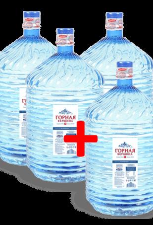 вода Горная вершина в одноразовой таре 4 бутыли