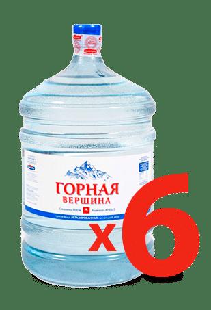 6 бутылей воды Горная Вершина