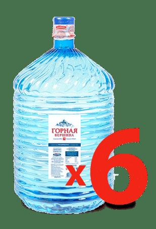 Горная Вершина — 6 бутылей в одноразовой таре